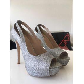 aeb07583 Zapatos Plateados Tacones Para Fiesta Mujer Zapatillas - Zapatos ...
