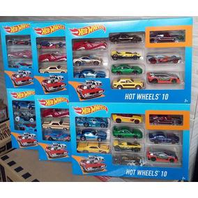 Pacote C/ 10 Carrinhos Hot Wheels Original Sortidos Mattel