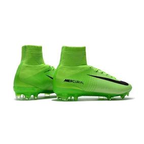 Chuteira Nike Mercurial Superfly V Verde Neon - Cr7 Original · R  518 02 796bccf132f3a