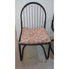 Conjunto De 4 Cadeiras + 4 Almofadas