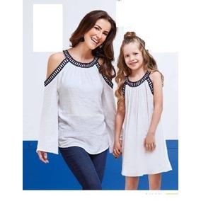 Combo Vestido Hija 6-12 Blusa Mamà T Ch Tallas Extras 40