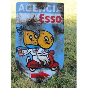 Cartel Agencia Esso No Enlozado Chapa