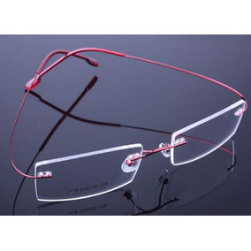 826fdfaac354f Armação Azul Feita De Titanium Óculos De Grau Sem Aro A574 - Óculos ...