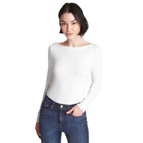Blusa Dama De Moda Manga Larga Cuello Barco Mujer Gap