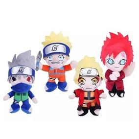 Conjunto Com 4 Pelúcias Do Anime Do Naruto
