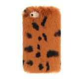 Novo Tpu Pelúcia Leopardo Corpo Pele Móvel Telefone Concha M