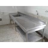 Bancada Inox Cozinha Industrial Usada Usado No Mercado Livre Brasil