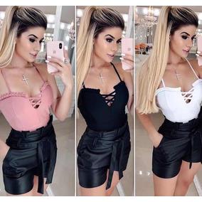 Shorts E Body Conjunto Feminino 2 Peças