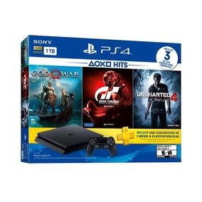 Sony Ps4 Slim Playstation4 1tb Cuh-2115b 3 Jogos 2 Controle