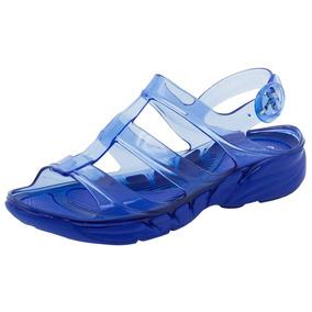 Sandália Feminina Salto Baixo Azul Azaleia - 350151