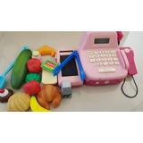 Juguete Maquina Registradora Con Frutas Verduras Y Accesorio