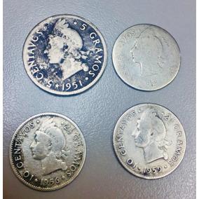Monedas De Plata Del 1942 Al 1959, De Diez Y Cinco Centavos