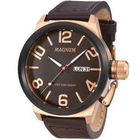Relógio Magnum Masculino Ma33399z Rosê Marrom