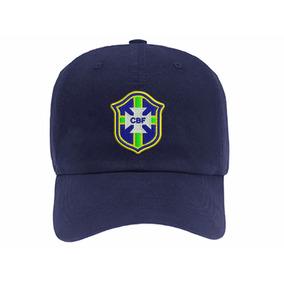 Boné Seleção Brasileira Escudo Strapback Aba Curva Dad Hat 1eaadf007ca