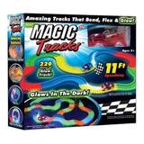 Magic Tracks Pista De Autos Con Encastre Brilla En Oscuridad