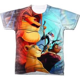 715e363ed5443 Camisa Camiseta Rei Leão Disney Desenho Animado 01