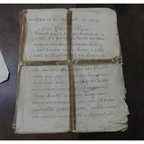 Carta Antiga Anterior A Deflagração Da Guerra Do Contestado