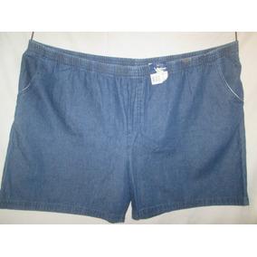 Shorts Azul Mezclilla Unisex Talla 4 X Basic Edition Big