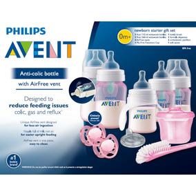 Kit De Inicio Anti-colico Biberones Avent Scd393/02 Rosa