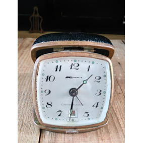 Reloj Antiguo Kmart Aleman Despertador Calendario Bolsillo