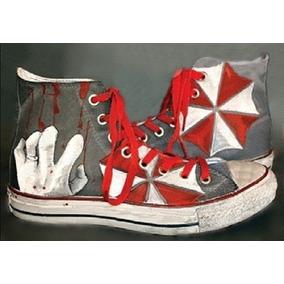 Zapatos Resident Evil Umbrella Marca Collec Diseño Hecho A M