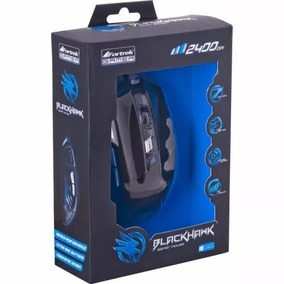 Mouse Gamer Macro Fire Button Fortrek Óptico 2400dpi 7botões