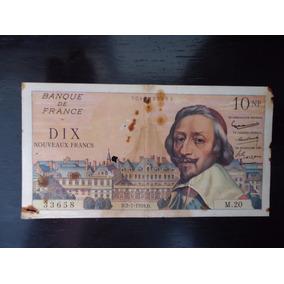 Nota Cédula 10 Dez Dix Francos 1959 Mbc S França