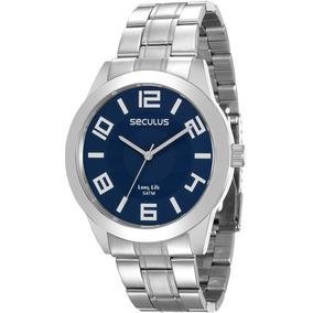 ece99449084 Relógio Seculus Masculino Aço no Mercado Livre Brasil