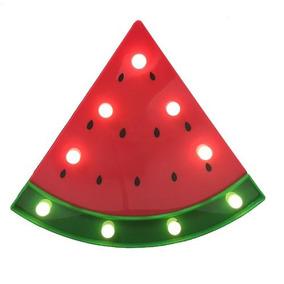 Kit 2 Luminoso Melancia Plastico Led Decoração Festa