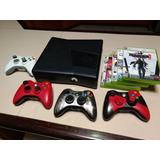 Consola Xbox 360 Slim 250gb + 4 Controles + 5 Juegos Físicos