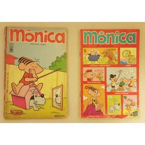 Lote 2 Gibis Mônica 5 E 6 Ed. Abril (1970) Raridade!