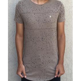 Camiseta Long Alltribe Respingos Caqui