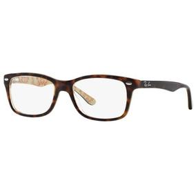 aec2916784e1c Armação Oculos Grau Ray Ban Rb5228 5057 53mm Marrom Havana B