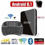 Android Tv Box H96 Max X2 4-64gb + Mini Teclado Inalámbrico
