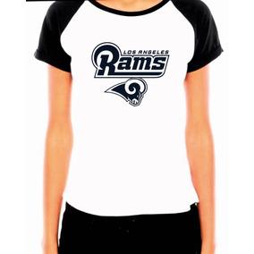 Camiseta Baby Look Los Angeles Rams Raglan Futebol Americano 4adc52a6c6012
