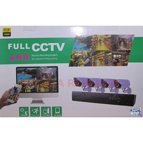 Full Cctv Kit Seguridad 4 Camaras Exterior Tvl + Cables