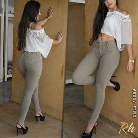 Calça Fe Cig Rhero Jeans Original Caqui Levanta Bumbum 70089
