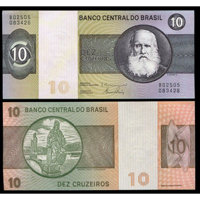 Cédula Do Brasil 10 Cruzeiros 1980 C140 Flor De Estampa L181