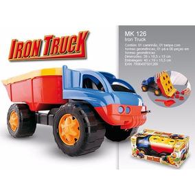Caminhão Iron Truck Dismat Didático 2 Em 1 / 40 Centímetros