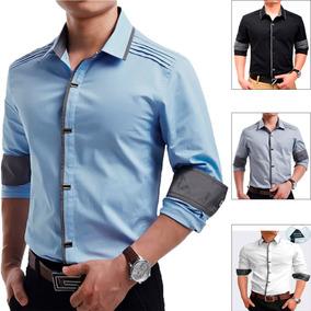 Camisa Social Masculina Slim Fit Importada Com Frete Gratis