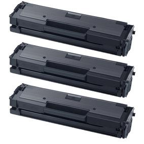 Kit 03 Toner Samsung Mlt-d111s M2020 M2022 M2070 Compatível
