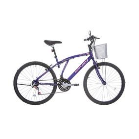Bicicleta Passeio Aro 26 Bristol Lance Violeta Houston