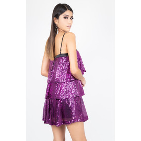Reina Diaz - Vestido Mini Con Tirantes Y Olanes - 524641