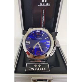 Reloj Tw Steel Caballero Plateado Azul Envio Gratis