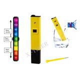 Medidor Ph Digital Água Lcd Phmetro Atc + Bateria Piscina