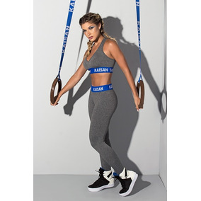 Conjunto Fitness - Mescla / Azul Royal (frete Único - R$ 18)