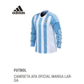 Camiseta Argentina Manga Larga Nueva - Camiseta de Argentina 2015 ... c8671d42d2c73