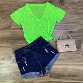 T-shirts Neon Podrinha Moda Carnaval Lançamento Barata Verão