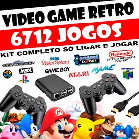 Vídeo Game Retro Raspberry Pi3 32gb 2 Controles Com Fio Hdmi