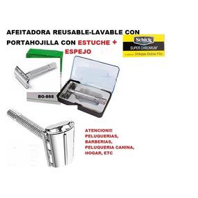 Estuche Con Maquina De Afeitar Reusable+3hojillas+espejo